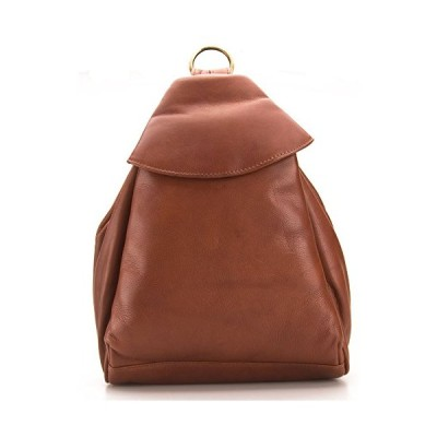 Visconti Leather Backpack Style 01721 Brown 並行輸入品