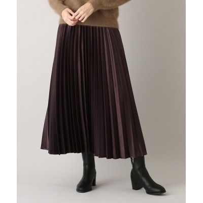 aquagirl / ピーチサテンプリーツスカート WOMEN スカート > スカート