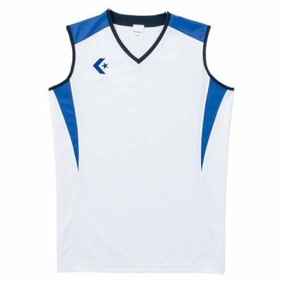 コンバース レディースゲームシャツ(ホワイト/ Rブルー・S) CONVERSE CB351701-1125-S 返品種別A