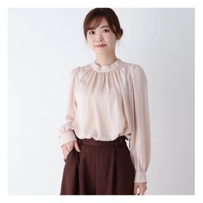 【ピンクアドベ/pink adobe】 【M-LL】サテンブラウス