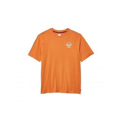 Herschel Supply Co. ハーシェルサプライ メンズ 男性用 ファッション Tシャツ Tee - Classic Logo Papaya/White