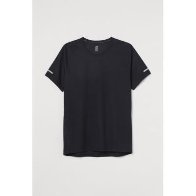 H&M - レギュラーフィット ランニングトップス - ブラック