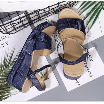 厚底サンダル レディース 厚底靴 ウェッジソール サンダル ストラップ おしゃれ 厚底 サンダル 疲れない 痛くない ローヒール 3E 靴 ウエッジソール