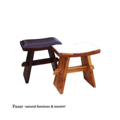 スツール 椅子 チョコレートスツール スツール レザー 椅子 アジアン家具 チェア 本革