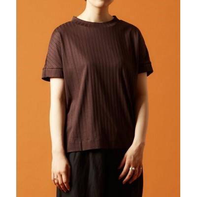 LOURMARIN/ルールマラン コットンスムース半袖Tシャツ ブラウン FREE