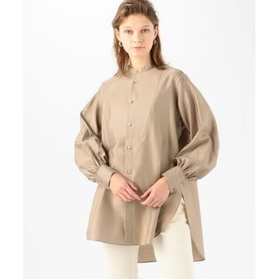 TOMORROWLAND/トゥモローランド コットンモールスキン ボザムチュニックシャツ 45 キャメル 36(9号)
