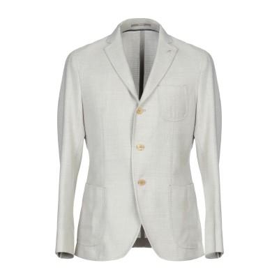 パオローニ PAOLONI テーラードジャケット グレー 52 ウール 100% テーラードジャケット