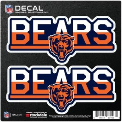 Stockdale ストックデール スポーツ用品  Chicago Bears 6 x 6 Two-Tone Repositionable Decal 2-Pack Set