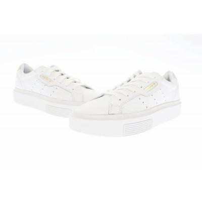 【中古】アディダス adidas SLEEK SUPER W スリーク スーパー EF8858 24.5 白 ホワイト ブランド古着ベクトル 中古●▲■ 200904 0035 レディース