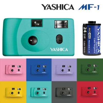 YASHICA MF-1 底片相機 復古菲林相機 (含軟片一捲 400度 135彩色負片)