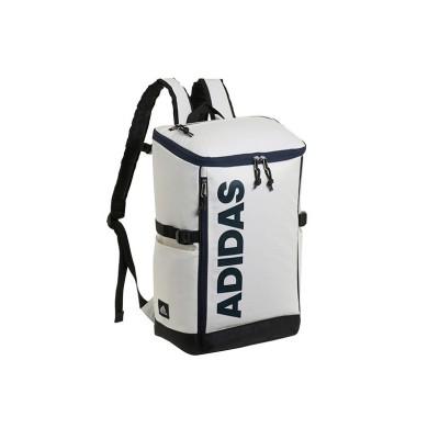 (adidas/アディダス)アディダス リュック リュックサック 25L スクエア ボックス型 防水 通学 メンズ レディース adidas 62791/ユニセックス ホワイト