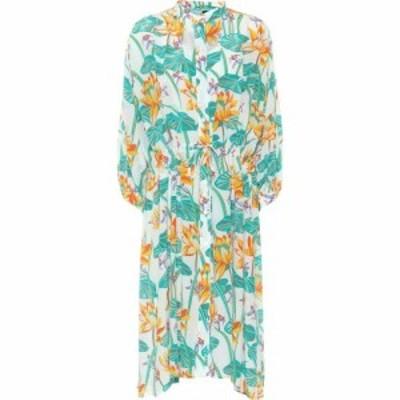 ロエベ Loewe レディース ワンピース シャツワンピース ワンピース・ドレス paulas ibiza printed silk shirt dress White/Orange
