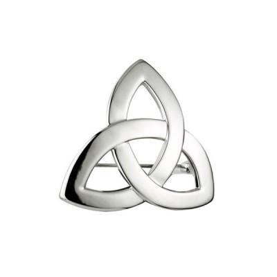 ロジウムTrinity Knot brooch-made in Ireland【並行輸入品】