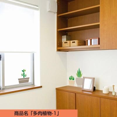 転写タイプ 高品質 ウォールステッカー「多肉植物-1:グリーン」植物 おしゃれ 日本製 壁傷 汚れ隠し インテリア キッチン