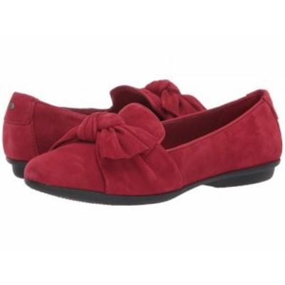 Clarks クラークス レディース 女性用 シューズ 靴 ローファー ボートシューズ Gracelin Jonas Red Suede【送料無料】