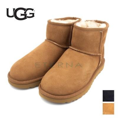 ugg アグ レディース 靴 ブーツ シープスキン スエード 秋冬 暖かい ボア スコッチガード 黒 キャメル 1016222