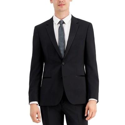 フューゴ ジャケット&ブルゾン アウター メンズ HUGO Men's Regular-Fit Black Tuxedo Jacket Black