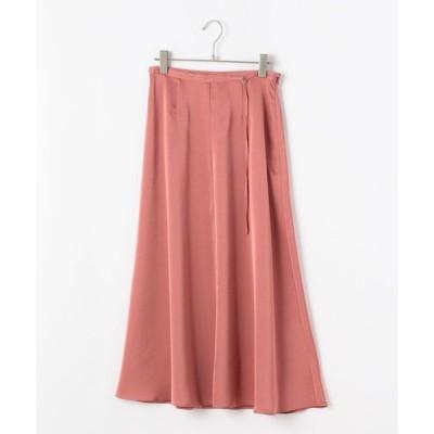 スカート サテンマキシスカート