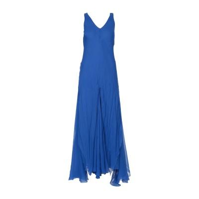 アルベルタ フェレッティ ALBERTA FERRETTI ロングワンピース&ドレス ブルー 48 100% シルク ロングワンピース&ドレス