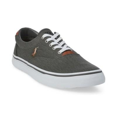 ラルフローレン スニーカー シューズ メンズ Men's Washed Twill Thornton Low-Top Sneakers Black
