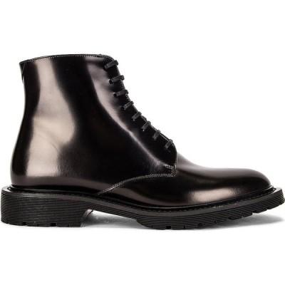 イヴ サンローラン Saint Laurent レディース ブーツ ブーティー レースアップブーツ シューズ・靴 cesna lace up booties Nero
