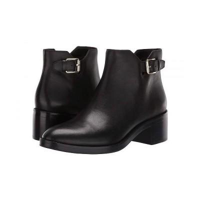 Cole Haan コールハーン レディース 女性用 シューズ 靴 ブーツ アンクルブーツ ショート Harrington Grand Buckle Bootie - Black Leather/Black Stack