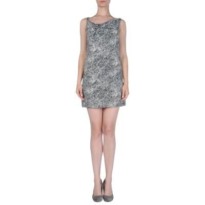 DOUUOD ミニワンピース&ドレス ダークグリーン 40 レーヨン 67% / コットン 33% ミニワンピース&ドレス