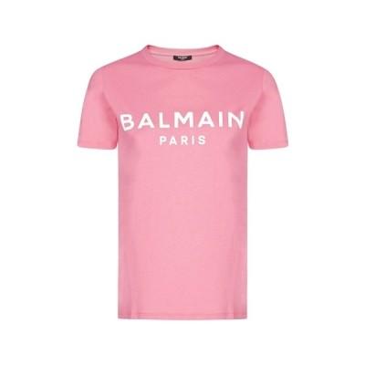 バルマン レディース Tシャツ トップス Balmain Logo Printed T-Shirt -