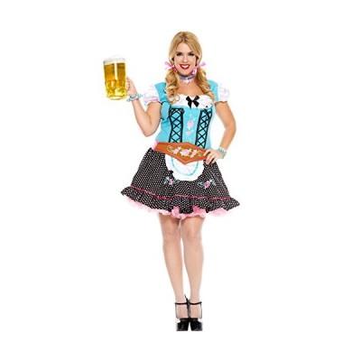 ミュージック レッグ レディース Plus-サイズ Miss Oktoberfest Plus サイズ, ブルー/Black, 1X(海外取寄せ品)