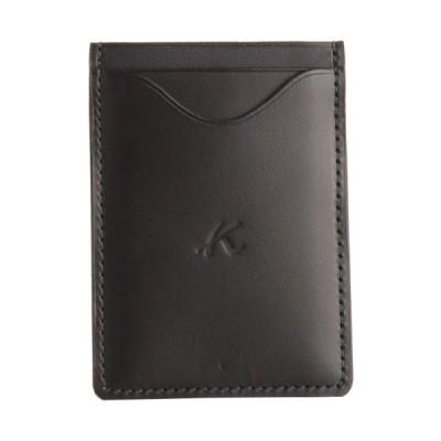 [キタムラ] 定期入れ パスケース ZH0075 ブラック/ダークグリーンステッチ [黒] 15321
