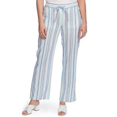 ヴィンスカムート カジュアルパンツ ボトムス レディース Wistful Stripe Linen & Cotton Blend Drawstring Pants Aqua Ice