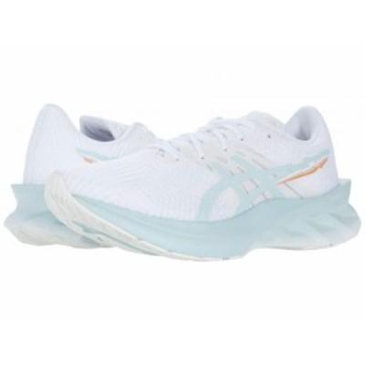 ASICS アシックス レディース 女性用 シューズ 靴 スニーカー 運動靴 Novablast White/Aqua Angel【送料無料】