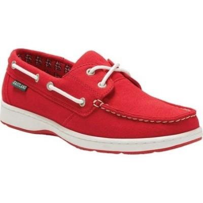 イーストランド Eastland レディース スリッポン・フラット シューズ・靴 Solstice Cardinals Red Canvas
