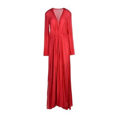 メルシー ..,MERCI ロングワンピース&ドレス レッド 40 レーヨン 100% ロングワンピース&ドレス