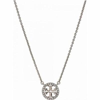 トリー バーチ Tory Burch レディース ネックレス ジュエリー・アクセサリー Crystal Logo Delicate Necklace Tory Silver/Crystal
