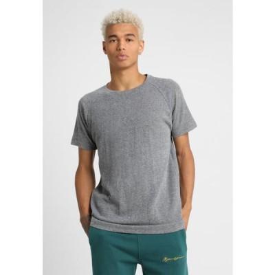 アーバンクラシックス メンズ ファッション MELANGE TEE - Basic T-shirt - white/black
