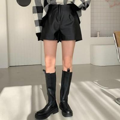 ENVYLOOK レディース ショートパンツ Genie leather shorts