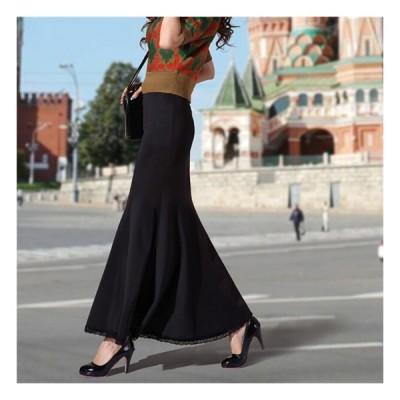【協和屋】マキシ ロングスカートフレ アスカート 美脚ラインも綺麗スカート スカート  マーメイドスカート  スウェット  タイトなマキシ丈スカート