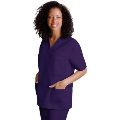 レディース 衣類 トップス Universal Basics by Adar Women's V Neck 3 Pocket Solid Scrub Top タンクトップ