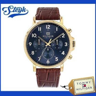 Tommy Hilfiger 1710380 トミーヒルフィガー 腕時計 アナログ  メンズ ブラウン ネイビー カジュアル