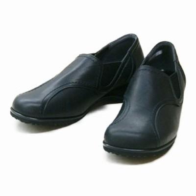 コンフォートシューズ レディースシューズ レディースファッション 靴 本革の良さ コンフォート 日本製 シンプル レザー使い 秋冬 4E