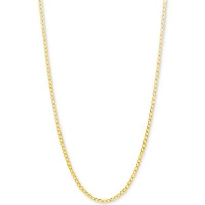 """イタリアン ゴールド Italian Gold レディース ネックレス ジュエリー・アクセサリー Curb Link Chain 22"""" Necklace (2-1/3mm) in 10k Gold Yellow Gold"""