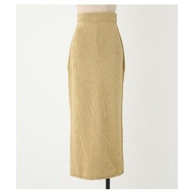 スカート knit long sk〈ニットロングスカート〉