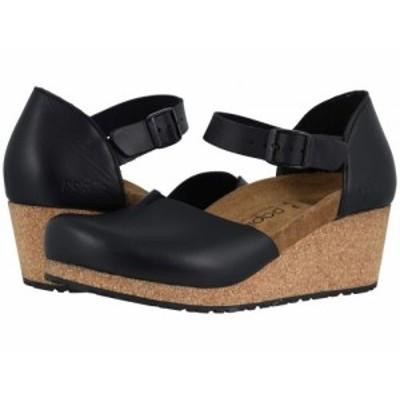 Birkenstock ビルケンシュトック レディース 女性用 シューズ 靴 ヒール Mary By Papillio Black Leather【送料無料】