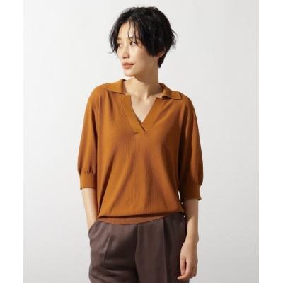 (OZOC/オゾック)◆【洗える】シアーカノコポロニット/レディース キャメル(041)