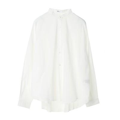 【CLUEL 10月号掲載】バックギャザーバンドカラーシャツ