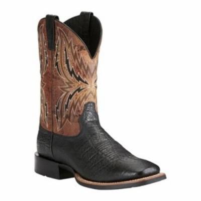 アリアト レインシューズ・長靴 Arena Rebound Cowboy Boot Black Elephant Print/Wildhorse Tan Full Grain