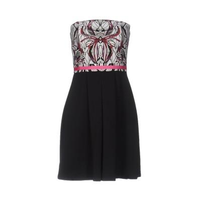 ビブロス BYBLOS ミニワンピース&ドレス ブラック 42 コットン 97% / ポリウレタン 3% / ポリエステル ミニワンピース&ドレス