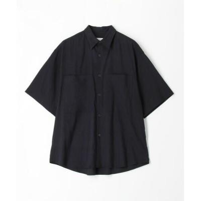 TOMORROWLAND/トゥモローランド 【WEB先行予約】リネンビスコース レギュラーカラーシャツ 69 ネイビー M