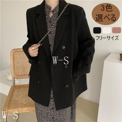 2021春ファッションスーツコートレディース通勤OL20代30代40代50代おしゃれピンクブラックホワイトフリーサイズ